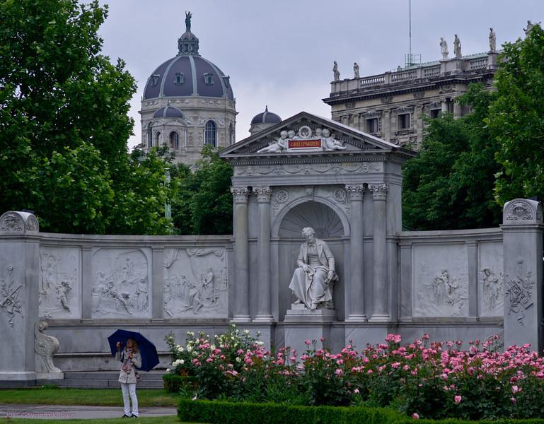 Roses and umbrella<br /> Volksgarten