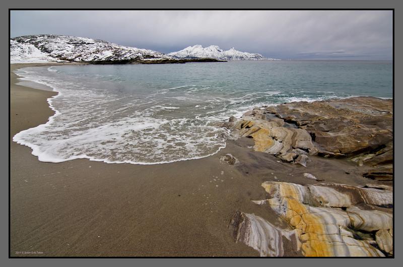 Beach at Mjelle, Nordland