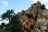 Cliff on the hillside