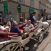 Horse cart <br /> The horse traffic adds a distinct smell to the air around Stephansdom in summer.