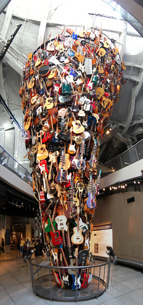"""Vertical panorama of a cool guitar display at EMP in Seattle.<br /> View the full version: <a href=""""http://photos.kevinworkman.com/Pictures/2011/i-Dp5PrhN/1/O/GuitarsPanorama6.jpg"""">http://photos.kevinworkman.com/Pictures/2011/i-Dp5PrhN/1/O/GuitarsPanorama6.jpg</a>"""