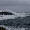 Autumn storm in Nyksund - view from the jetty II