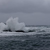 Autumn storm in Nyksund - view from the jetty I