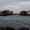 Town in the ocean - stormy weather, wind 24m/s