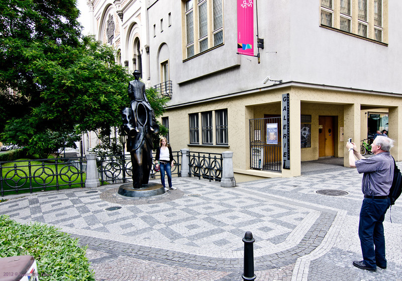 Picture me in front of the attraction - 6<br /> Franz Kafka monument, Prague