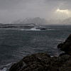 Autumn storm in Nyksund - view from Ungsmaløya