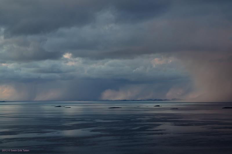 Clouds over water<br /> Landegode fjord, Nordland