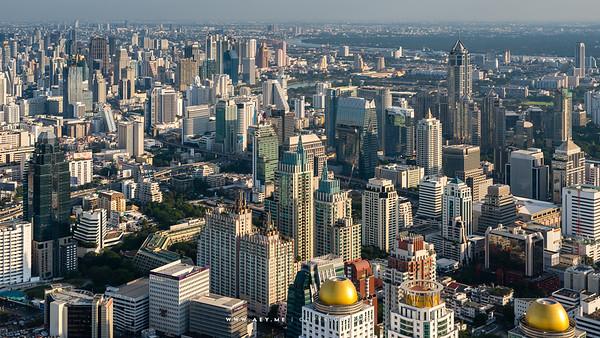 Bangkok Cityscape view from Baiyoke Sky Hotel