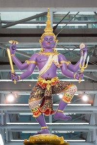 Vishnu (Narayana), Scene of the Churning of the Milk Ocean, Suvarnabhumi International Airport