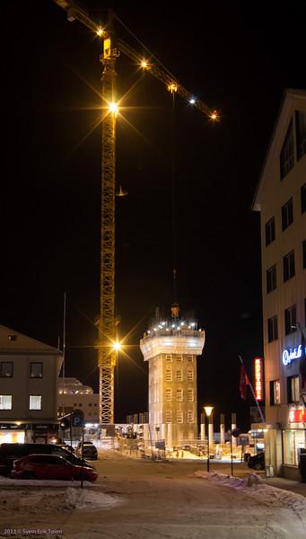 Sliding formwork - casting of central shaft I<br /> New Rica hotel, Bodø harbour 2013