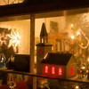 Delpen Book Café Nyksund in Christmas mode VII - salty exhibition window