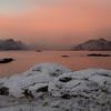 Pink october morning, from Vestervika in Nyksund