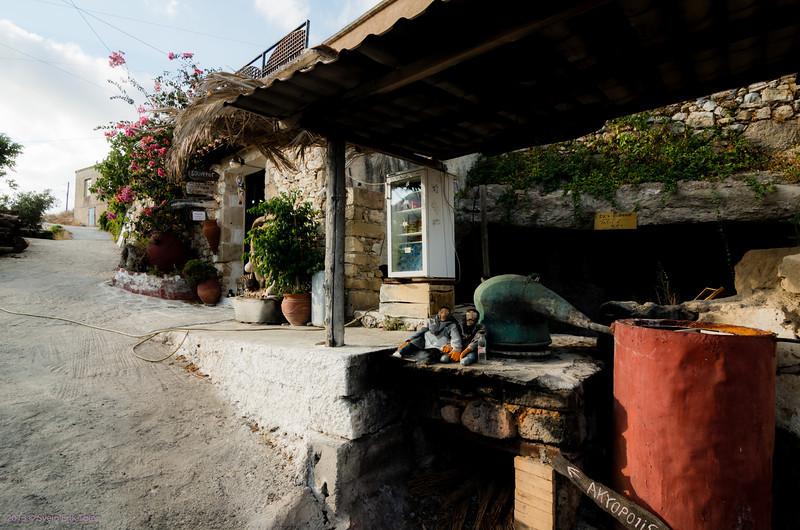 Giorgos' workshop and shop, Polirinia village