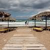 Windy stroll on the beach, Kissamos bay