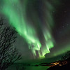 Northern lights over Nyksund, Christmas day 2013 - V