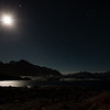 Moonlit Prestfjorden, seen from Vestervika in Nyksund - end december