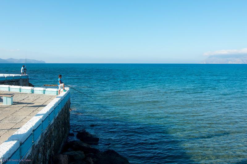 Timeless activity by Kissamos bay