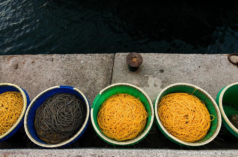Fishing nets, Falasarna harbour
