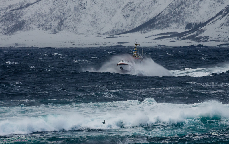 """Routine mission II<br /> Rescue Vessel """"Knut Hoem"""" as local passanger shuttle to Nyksund"""
