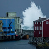 Breaking outside the harbour<br /> Stormy day in Nyksund II