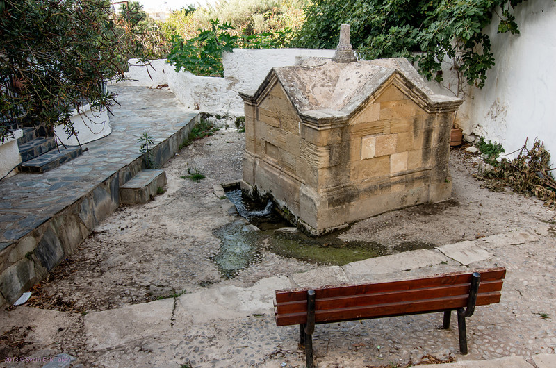 Resting place with water source<br /> Kissamos town