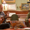 Rune, ukulele and Dina, cello
