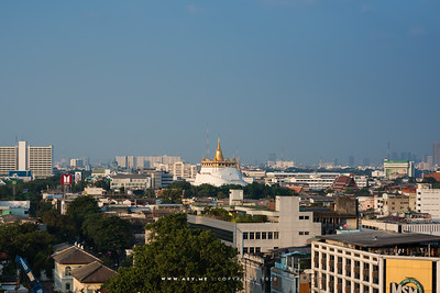 Phukhao Thong, Wat Saket view from Mega Plaza