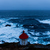 Facing the sea - Lighthouse, Nyksund island
