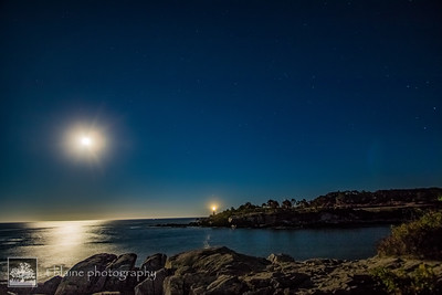 Full Moon Over Portland Head Lighthouse