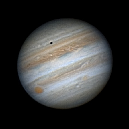 Jupiter, Europa & Shadow 2017-03-30,  09:07:30 UTC