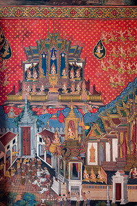 Mural Painiting, Phra Ubosot, Wat Arun (The Temple of Dawn)
