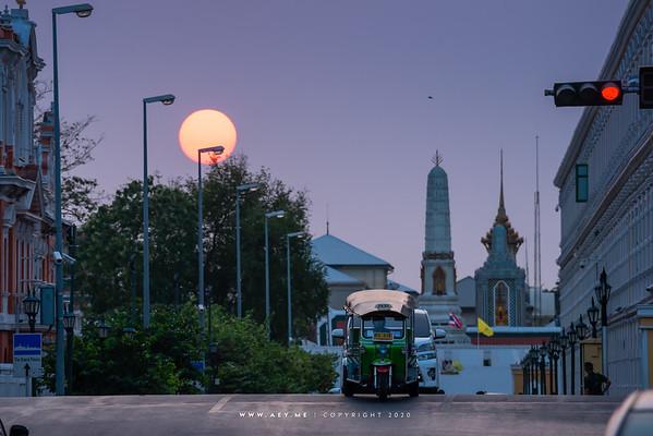 Sunset at Wat Phra Kaew, Grand Palace