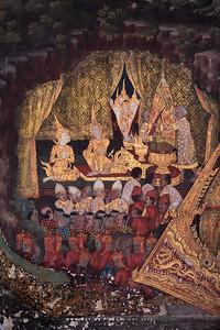 Mural Painiting, Phra Ubosot, Wat Arun (The Temple of Dawn)