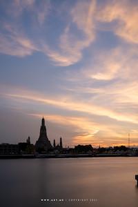 Wat Arun view from Riva Arun Pier