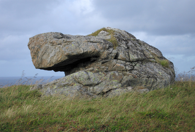 BIG YAWN<br /> Looking at this rock on top of  Nyksund island, it becomes clear that trolls are real – the beast has clearly been asleep for a while – or is it a Hipppopotamus? The chilling wind seems to do our stony friend well.