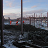 Frosty contruction work - minus 15 degrees Celsius<br /> Fauske highschool extention 2007-2008