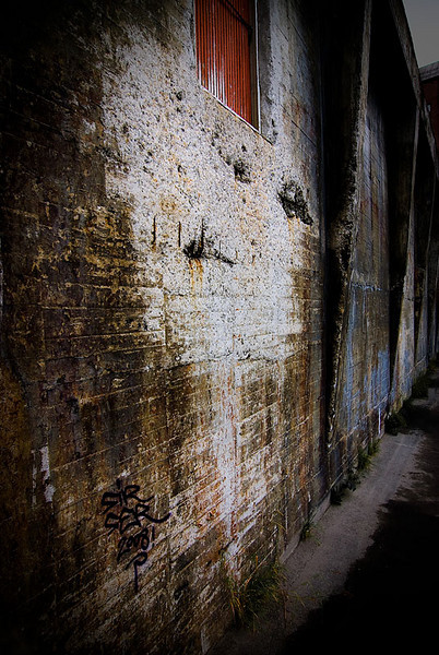 """""""The Wall"""" - I<br /> Part of an old coal storage - now a parking lot..."""