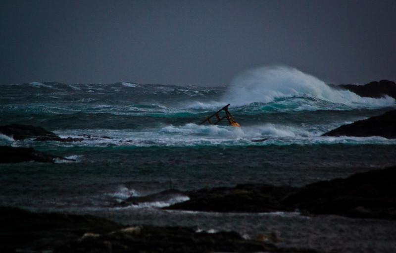Full storm at Værøy