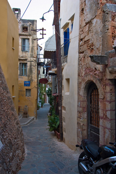 Narrow streets, narrow houses II<br /> Chania old city