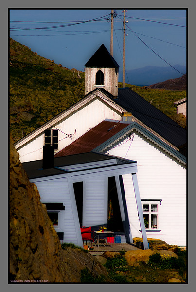 House collage<br /> An art gallery, a church - and more - Nyksund, Nordland