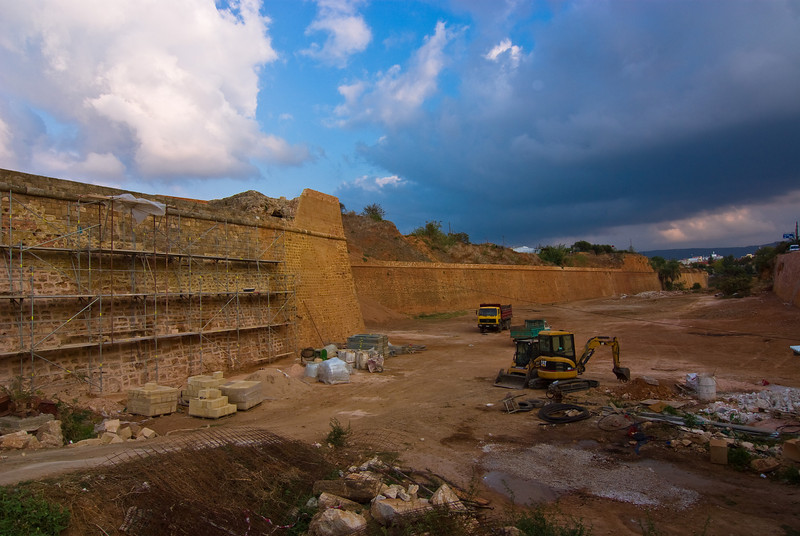 The old walls of the citadelle, Chania