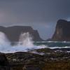 "The storm ""Ulrik"" sweeping the shores of Værøy II"