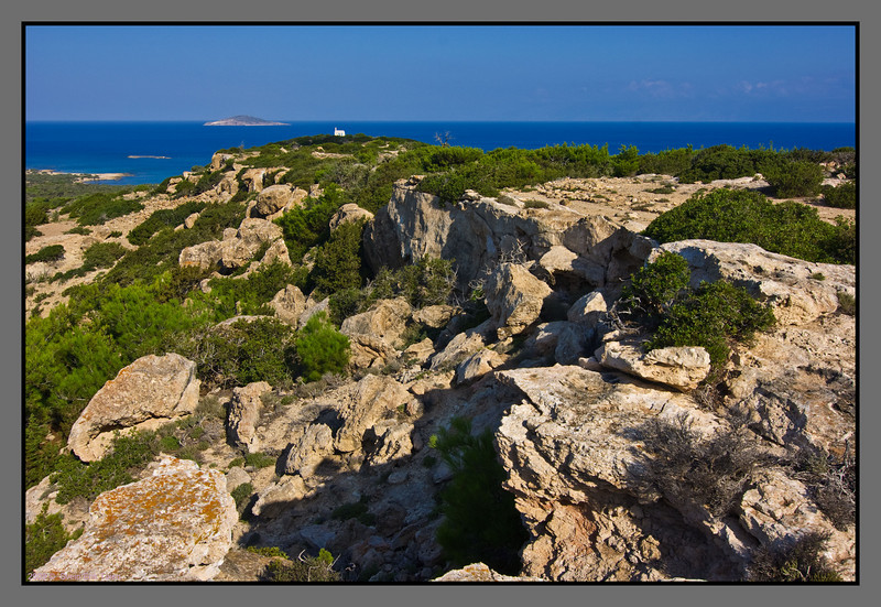 The path leading there - grossing rock and cliff landscape growed with pine and juniper