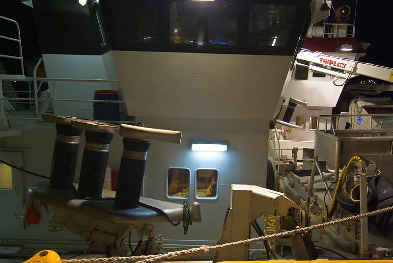 Window<br /> Fishing vessels spending the night in Bodø