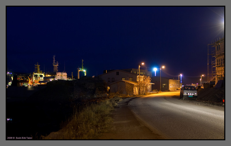 E6 ending in the polar night <br /> Kirkenes, Norway