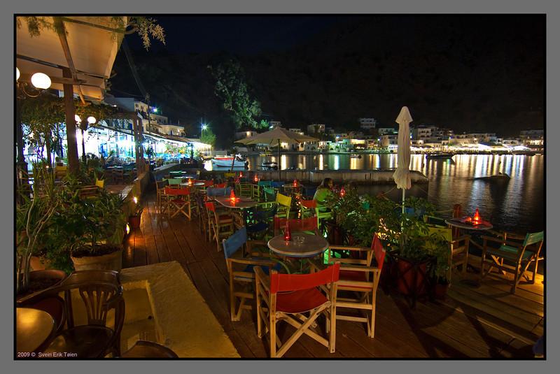 Colourful night - I  <br /> Cristinas Cafe