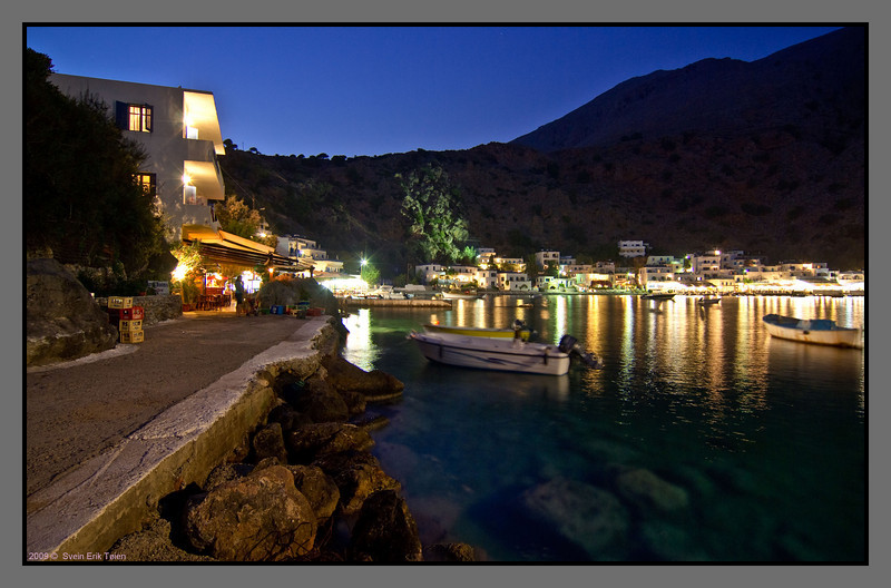The nightly Loutro from west