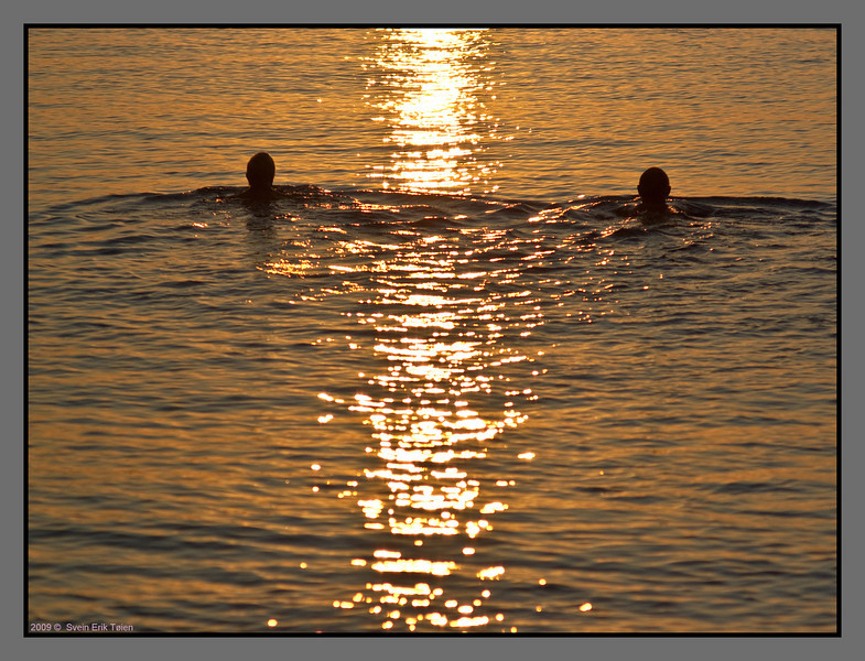 Morning bathing couple - II
