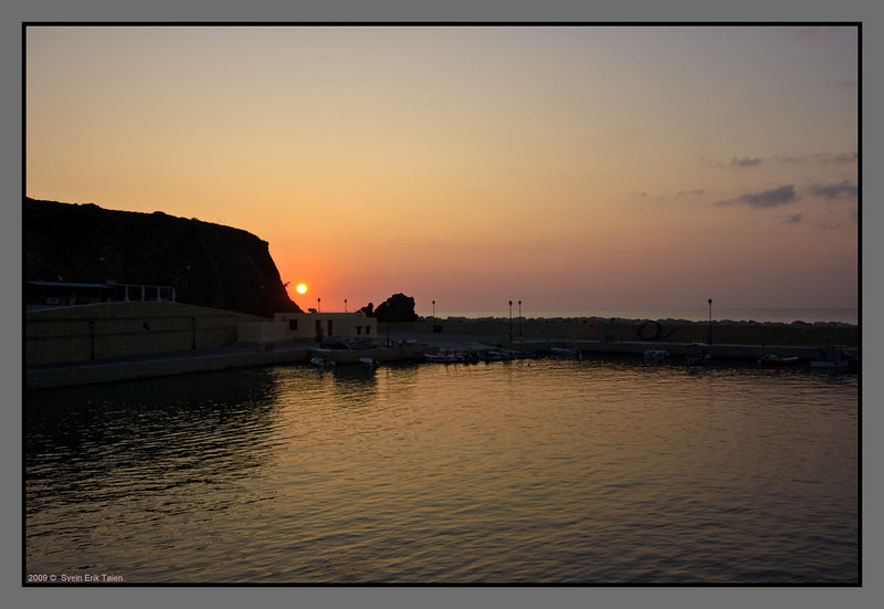Sun rises over the jetty at Karave