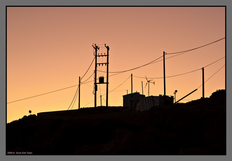 Evening silhouette; hilltop above Karave